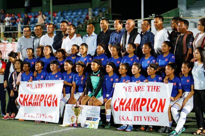 MFA Women's League champions GSA ITI Veng. (Photo courtesy: Mizoram Football Association)