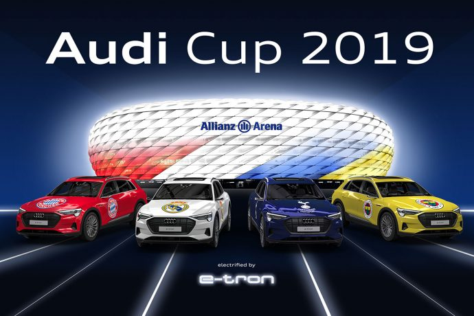 Audi Cup 2019 line-up: FC Bayern Munich, Real Madrid CF, Tottenham Hotspur and Fenerbahçe SK. (Image courtesy: AUDI AG)