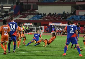 Hero Super Cup match action between Bengaluru FC and Chennai City FC. (Photo courtesy: Bengaluru FC)