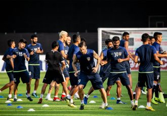 Chennaiyin FC training session at The Arena Stadium in Ahmedabad. (Photo courtesy: Chennaiyin FC)