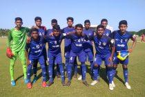 The Chennaiyin FC U-15 team before their Hero Junior League match. (Photo courtesy: Chennaiyin FC)