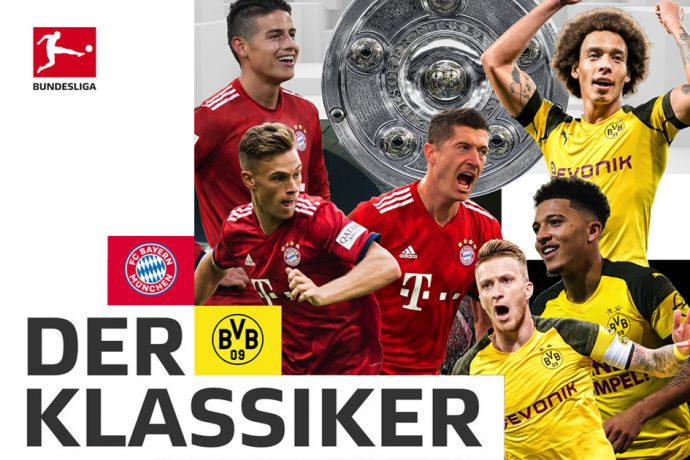 Der Klassiker: The clash of Bundesliga heavyweights FC Bayern Munich vs Borussia Dortmund.