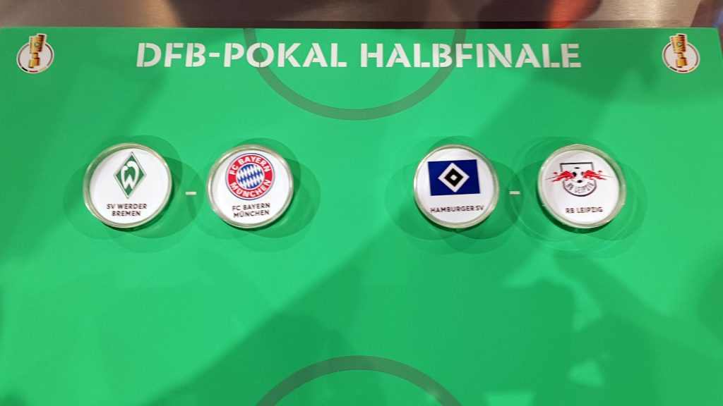 Exciting fixtures set-up in the DFB-Pokal semis: SV Werder Bremen vs FC Bayern Munich and Hamburger SV vs RB Leipzig. (© CPD Football)