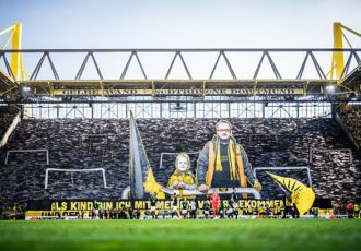 """Gelbe Wand"" – the yellow wall of 25,000 fans at Borussia Dortmund's SIGNAL IDUNA PARK. (Photo courtesy: Bundesliga)"