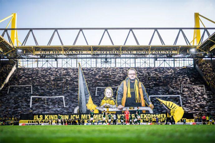 """Gelbe Wand"" – the yellow wall of 25,000 fans at Borussia Dortmund's SIGNAL IDUNA PARK. (Photo courtesy: Bundesliga)"