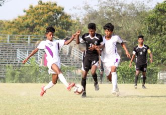 Hero Junior League match action between Mohammedan Sporting Club U-15 and United SC U-15. (Photo courtesy: Mohammedan Sporting Club)