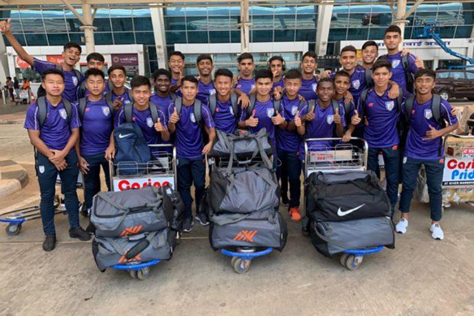 Members of the India U-15 national team. (Photo courtesy: AIFF Media)
