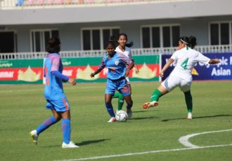 Indian Women's national team match action. (Photo courtesy: AIFF Media)