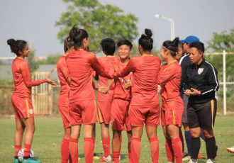 The Indian Women's national team moments during a trainig session. (Photo courtesy: AIFF Media)