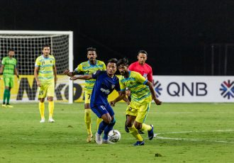 Chennaiyin FC striker Jeje Lalpekhlua in action against Abahani Limited Dhaka in an AFC Cup 2019 encounter. (Photo courtesy: Chennaiyin FC)