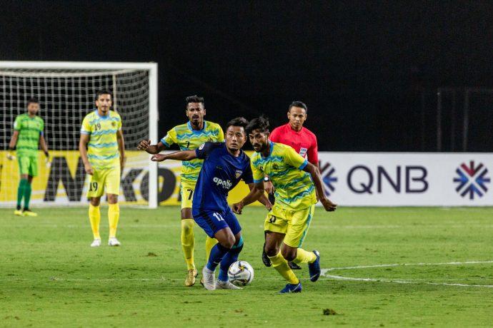 Chennaiyin FC striker Jeje Lalpekhlua in action against Abahani Limited Dhaka in an AFC Cup 2019 encounter. (Photo courtesy: Chennaiyin FC)