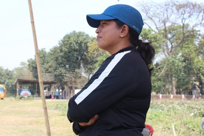 Indian Women's national team head coach Maymol Rocky. (Photo courtesy: AIFF Media)
