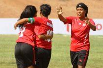Mizoram Junior Girls State Team players celebrating a goal. (Photo courtesy: AIFF Media)