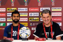 Chennaiyin FC striker Mohammed Rafi and head John Gregory at the AFC Cup pre-match press conference. (Photo courtesy: Chennaiyin FC)