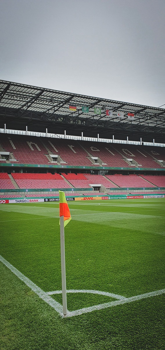 The RheinEnergieSTADION in Cologne, venue of the DFB-Pokal der Frauen (German Women's Cup) final. (© CPD Football)