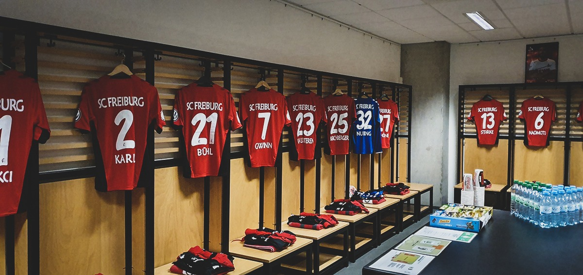 SC Freiburg Ladies dressing room before the DFB-Pokal der Frauen (German Women's Cup) final. (© CPD Football)