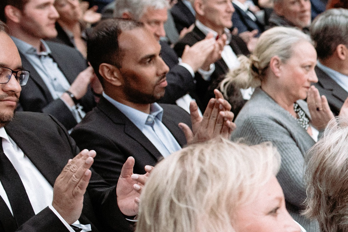 Chris Punnakkattu Daniel during the Deutscher Fussball Botschafter Awards Ceremony 2019 at the German Federal Foreign Office (Auswärtiges Amt) in Berlin. (© 2019 - Deutscher Fussball Botschafter e.V.)