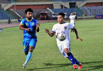 AFC Cup match action between Abahani Limited Dhaka and Chennaiyin FC. (Photo courtesy: Chennaiyin FC)