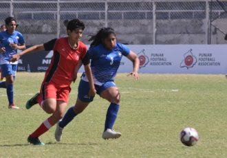 Indian Women's League match action between Alakhpura FC and Hans Women FC. (Photo courtesy: AIFF Media)