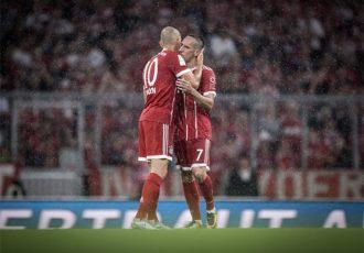 FC Bayern Munich's legendary duo: Arjen Robben & Franck Ribéry. (Photo courtesy: Bundesliga)