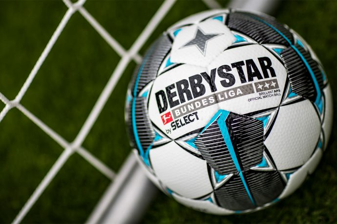 The official match ball by DERBYSTAR of the Bundesliga and Bundesliga 2 for the 2019-20 season. (Photo courtesy: DFL Deutsche Fußball Liga)