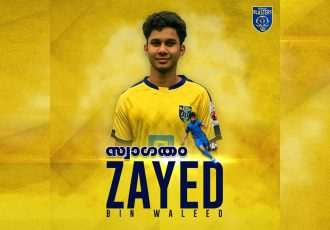 Kerala Blasters announce the signing of 17-year-old Zayed Bin Waleed. (Image courtesy: Kerala Blasters FC)