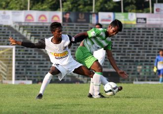 Zee Bangla Football League match action between Mohammedan Sporting Club U-19 and Adamas University North 24 Pargans Masters. (Photo courtesy: Mohammedan Sporting Club)