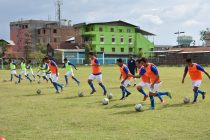 Participants of an AIFF Grassroots Leaders Course during a practical session. (Photo courtesy: AIFF Media)