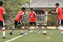 Bengaluru FC U-13s during a training session at the Jawaharlal Nehru Stadium Training Complex in Fatorda, Goa. (Photo courtesy: Bengaluru FC)