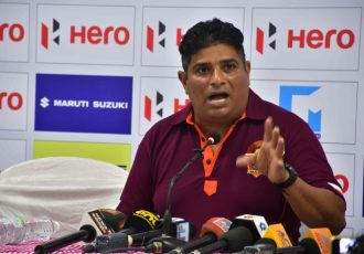 Gokulam Kerala FC Technical Director Bino George. (Photo courtesy: AIFF Media)