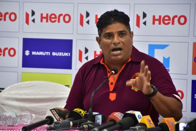 Gokulam Kerala FC Technical Director Bino George. (Photo courtesy: AIFF Media)