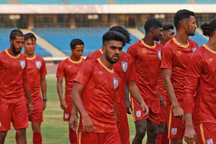 Brandon Fernandes during the Indian national team's training session at the Jawaharlal Nehru Stadium in Delhi. (Photo courtesy: AIFF Media)