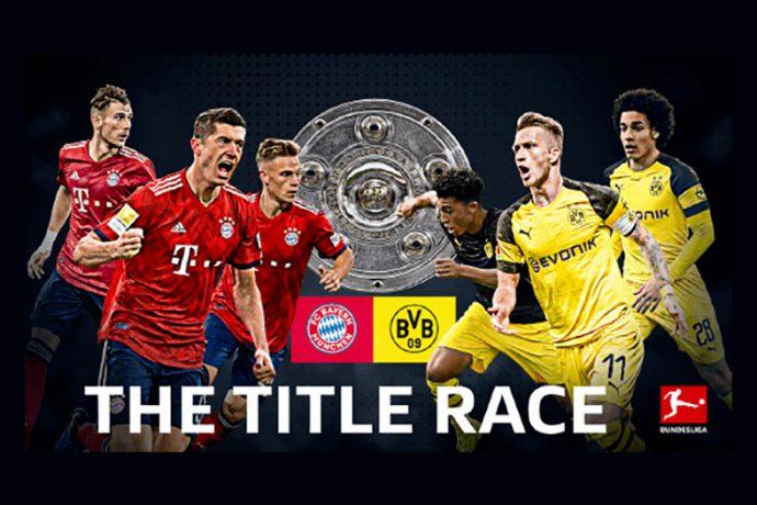 The 2018/19 Bundesliga title race between FC Bayern Munich and Borussia Dortmund. (Image courtesy: Bundesliga)