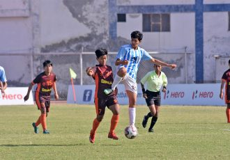 Hero Indian Women's League (IWL) match action between Gokulam Kerala FC and FC Alakhpura. (Photo courtesy: AIFF Media)