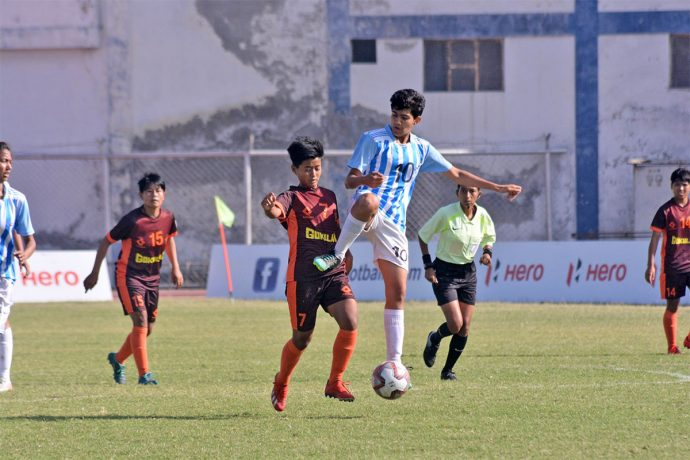 Hero Indian Women's League (IWL) match action between Gokulam Kerala FC and FC Alakhpura. (Photo courtesy: AIFF Media)