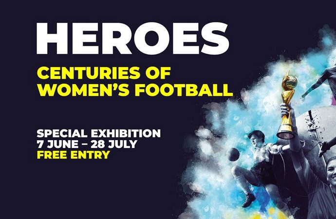 """Heroes: Centuries of Women's Football"" exhibition at FIFA World Football Museum. (Image courtesy: FIFA World Football Museum)"