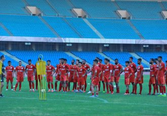 Indian national team training session at the Jawaharlal Nehru Stadium in New Delhi. (Photo courtesy: AIFF Media)