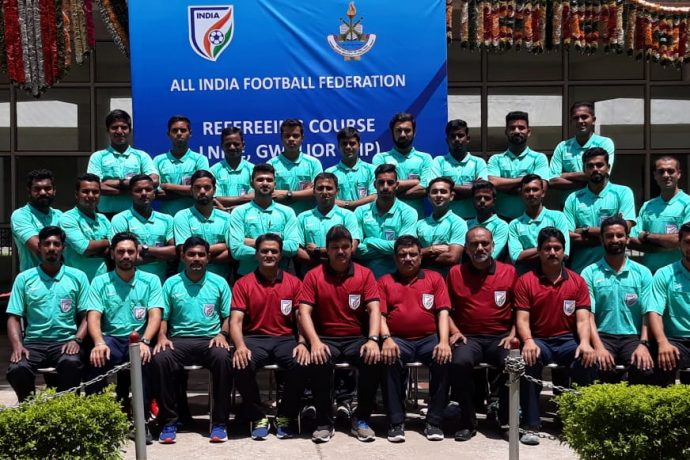 Participants of the AIFF workshop for the Head of Referees (HOR) of various Member Associations. (Photo courtesy: AIFF Media)