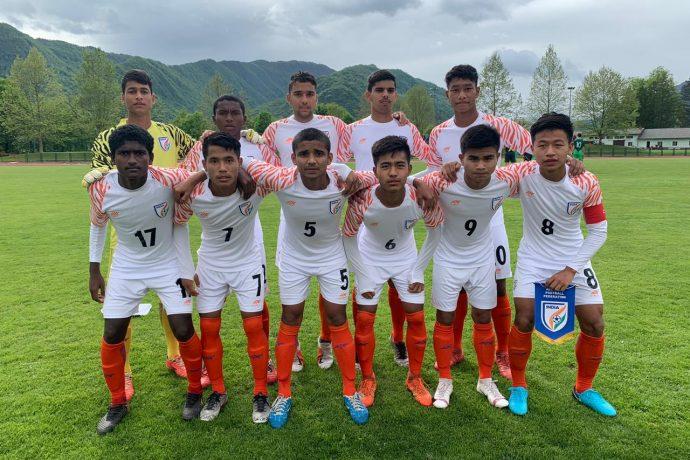 The India U-15 national team at the Torneo delle Nazioni Città di Gradisca d'Isonzo in Italy. (Photo courtesy: AIFF Media)