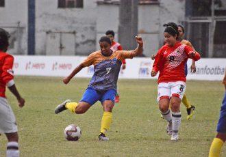 Hero Indian Women's League (IWL) match action between Bangalore United and FC Kolhapur City. (Photo courtesy: AIFF Media)