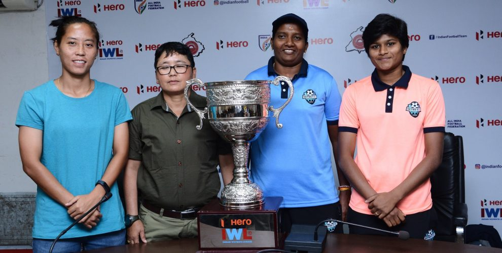 Pre-match press conference ahead of the Hero Indian Women's League (IWL) final between Sethu FC and Manipur Police SC. (Photo courtesy: AIFF Media)
