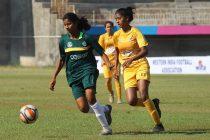 Junior Girls' National Football Championship 2019-20 match action at the Polo Ground in Kolhapur, Maharashtra. (Photo courtesy: AIFF Media)
