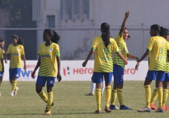 Panjim Footballers players during their Hero Indian Women's League (IWL) match. (Photo courtesy: AIFF Media)