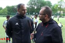 rs1.tv's Arunava Chaudhuri interviewing Chris Punnakkattu Daniel during the German Football Academy's training camp in Remscheid. (Photo courtesy: rs1.tv)