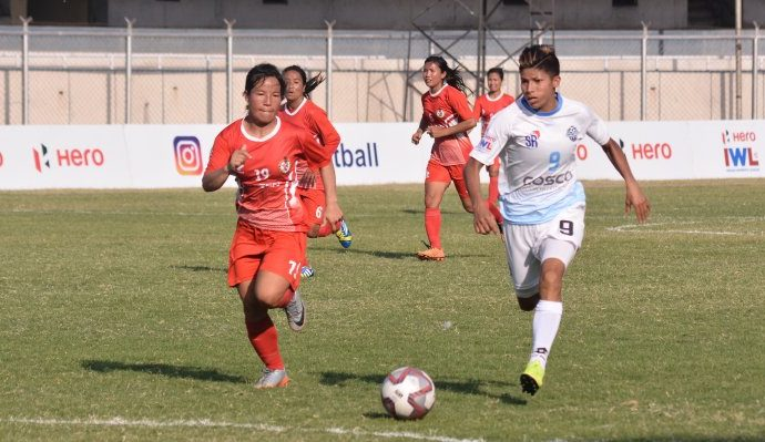 Hero Indian Women's League match action between Sethu FC and Manipur Police. (Photo courtesy: AIFF Media)