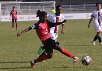 Hero Indian Women's League (IWL) match action between Sethu FC and Bangalore United FC. (Photo courtesy: AIFF Media)