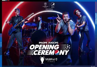 UEFA & Pepsi announce Imagine Dragons for UEFA Champions League Final Opening Ceremony. (Image courtesy: PepsiCo)