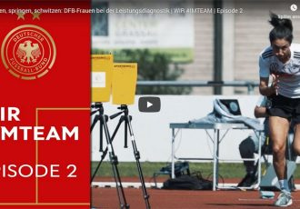 WIR #IMTEAM (Episode 2): Team Germany – Sprinting, jumping, sweating. (Image courtesy: Screenshot: DFB TV)