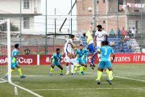 AFC Cup match action between Manang Marshyangdi Club and Chennaiyin FC. (Photo courtesy: Chennaiyin FC)
