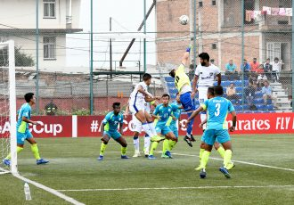 AFC Cup match action between Manang Marshyangdi Club and Chennaiyin FC. (Photo courtesy: Chennaiyin FC)
